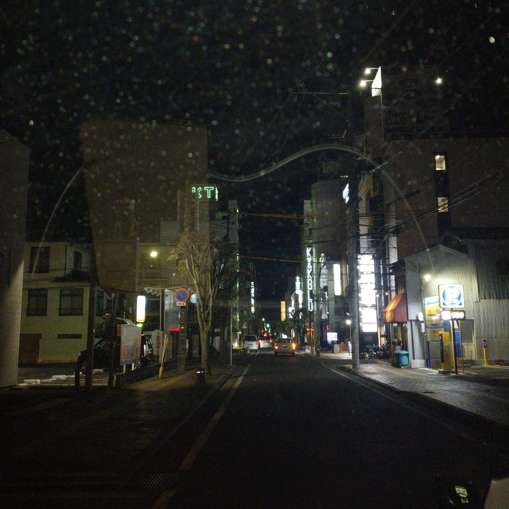 夜の繫華街